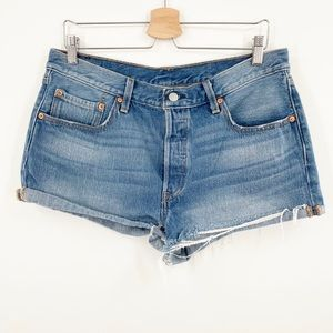 Levis 501 Button Fly Cut Off Shorts